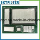 Hogar 2013 del filtro del purificador del aire de la fibra de vidrio HEPA