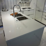 Countertop кухни камня кварца белизны 3cm Ce чисто (C1705121)
