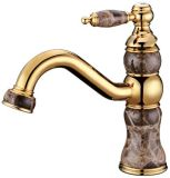 Faucet intemporal luxuoso antigo do misturador da bacia do mármore Zf-M53 do estilo de vida