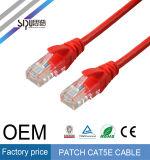 Fournisseur de cordon de connexion de câble du câble UTP Cat5e de réseau de Sipu Cat5