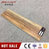 ブラウンカラー600X150mm木製のセラミックタイルの艶をかけられたタイルの安い価格のタイル