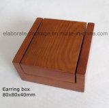 Rectángulo de joyería de madera del embalaje del regalo del alto lustre