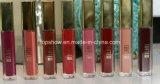 Lustre à haute teneur mat de languette de Lipgloss de rouge à lievres de Milani de grand dos de tube de marque de distributeur d'or faite sur commande en aluminium liquide de conteneur