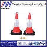 Cone plástico vermelho do tráfego do cone de EVA para a segurança de estrada