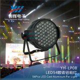 54 * 3W RGB 3 en 1 de mezcla del efecto de etapa del disco de DJ del partido PAR puede luces LED