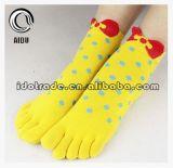 WellePatten Cuty Entwurf für Sie Soem-Zehe-Socke