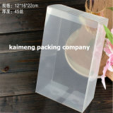 Rectángulo plegable claro transparente puro del empaquetado plástico del animal doméstico en el 15X15X20cm (rectángulo del empaquetado plástico)