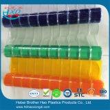 De milieuvriendelijke Oranje Duidelijke Flexibele Vouwende Broodjes van het Gordijn van het Blad van de Deur van de Strook van pvc Plastic
