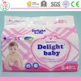 Caraterística impressa e tecidos descartáveis materiais não tecidos do bebê da qualidade da tela