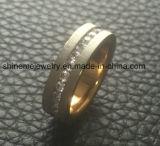 Titanio de acero inoxidable 18k simple Anillos de moda de oro
