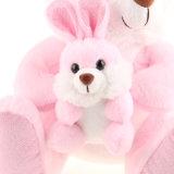 토끼를 가진 3개의 색깔 견면 벨벳 토끼 장난감