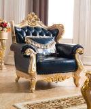 Vintage do sofá de Chesterfield da mobília antiga com o sofá do couro genuíno