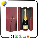 Caja de embalaje personalizado cuero Top Grado de doble caja de vino