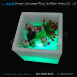 Cubeta de gelo plástica da mobília do diodo emissor de luz com preço barato