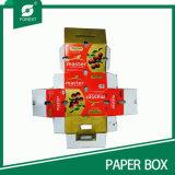 Rectángulo de empaquetado del cartón de Apple de la fruta de la cartulina del plátano fresco de la fruta (FP0200012)