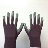 Nylon перчатки при нитрил покрывая ровное законченный
