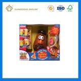 El color de encargo imprimió los rectángulos acanalados la visualización de papel del juguete del embalaje (el fabricante del OEM)