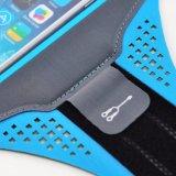 Il supporto pareggiante funzionante del braccio di caso di ginnastica mette in mostra il bracciale per il iPhone 6