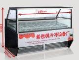 중국에서 아이스 캔디 아이스크림 전시 냉장고