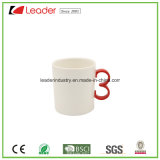 Gelber Plätzchen-Halter-keramische Kaffeetasse