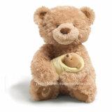 Urso feito sob encomenda da peluche dos brinquedos do luxuoso da fábrica