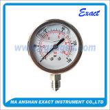 Medidor de pressão hidráulica - medidor de pressão cheio de líquido - medidor de pressão de óleo