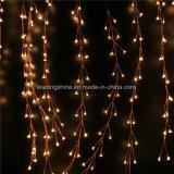 Luces de hadas de la mini de las lámparas LED del alambre de cobre 20 LED cadena con pilas blanca caliente del petardo