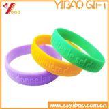 2017 personalizar o bracelete do Wristband do silicone com logotipo gravado