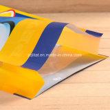 Saco de pé do alimento do empacotamento plástico do animal de estimação flexível com Zipper