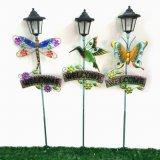 Garten-Dekoration-Buntglas verzierte Metallstange-Fertigkeit mit Solarlicht
