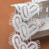 Weiße elastische französische Tulle-Spitzee für Wäsche