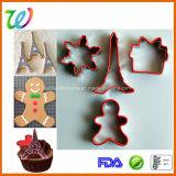 Рождество Kitchenware украшая с резцом торта печенья нержавеющей стали края PVC