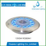 Luz subacuática de la fuente de IP68 36W RGB LED