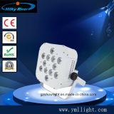 luz sem fio da PARIDADE do diodo emissor de luz de 12*6in1 RGBWA+UV DMX, luz da PARIDADE do diodo emissor de luz da potência de bateria, iluminação do diodo emissor de luz de /Wireless/arruela sem fio da parede do diodo emissor de luz da bateria