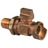 Válvula de esfera de bronze para o fabricante do medidor de água