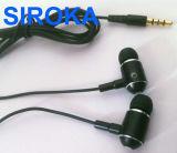 고품질 목제 이어폰, 이동 전화 이어폰, Mic를 가진 이어폰