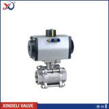 Válvula de esfera Pn63 do aço inoxidável 1.4408 do fabricante 3PC Dn20