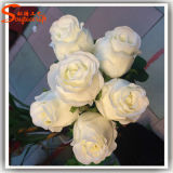 Hot Sale Artificial Decorativo Metal Seda Rose Flowers