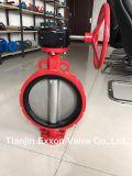 Ss/Ci/Di Vleugelklep van het Wafeltje van het Ijzer van /Ductile van het Roestvrij staal/Van het Gietijzer de PTFE/EPDM Gevoerde