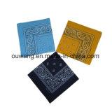 Cotone 100% del Bandana del fazzoletto stampato abitudine