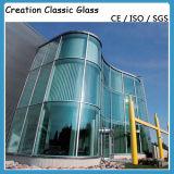 Vidro Tempered curvado para a parede de cortina/vidro de vidro do edifício
