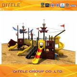 de 114mm Gegalvaniseerde Post Kleurrijke Apparatuur van de Speelplaats van de Kinderen van het Schip van de Piraat Openlucht