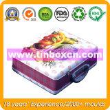 Griff-Zinn-Behälter für die verpackende Mittagessen-Blechdose, Geschenk-Zinn