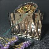 Vidrio marrón claro del vidrio laminado/arte/vidrio de cristal/decorativo de la talla eléctrica con el espejo