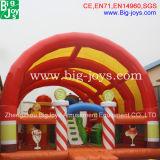 フルーツデザイン子供の膨脹可能な警備員のスライド、雨カバー(B-F18)が付いている膨脹可能な運動場