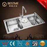 China-heiße Verkaufs-Edelstahl-Küche-Wanne (BS-7019F)