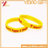 Wristband impresso de venda quente do silicone da cor contínua do logotipo (XY-SW-002)