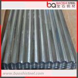 Azulejo de azotea acanalado galvanizado sumergido caliente de la hoja de acero
