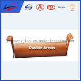 Double Arrow Marque Belt Conveyor Carrier Return Flat Idler