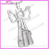 Ijd8200 Engel in de Halsband van de Tegenhanger van de Crematie van het Roestvrij staal van de Houder van het Geheugen van de Herinnering van de As van de Kleding